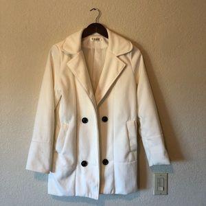 Jackets & Blazers - Snow White Soft Peacoat!